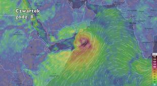 Trasa cyklonu Mekunu (ventusky.com) | wideo bez dźwięku