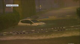 Woda uszkodziła samochody w Katalonii
