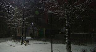 Poranek po nocnych opadach śniegu w Krakowie (TVN24)